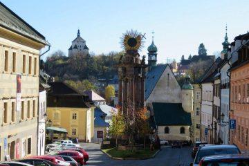 Banská Štiavnica - Holy Trinity square and New castle