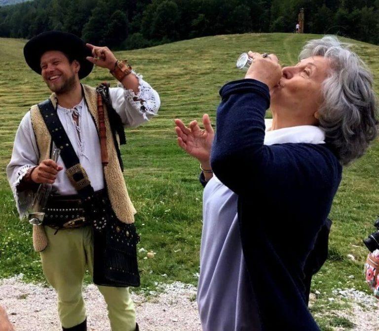 Tasting Slivovitz at Salaš Zbojská