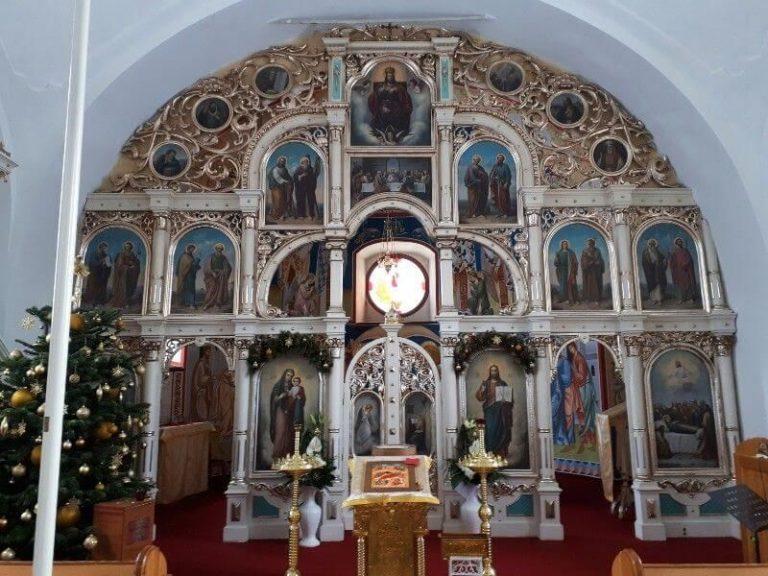 Iconostas in the church of Saint Demetrius in the village of Obručné