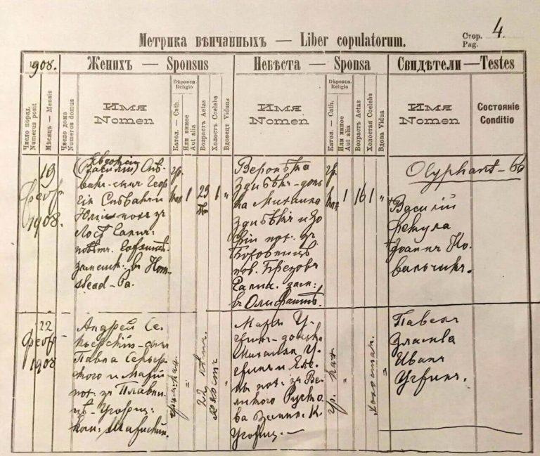 Slovakia genealogy - Greek Catholic marriage records